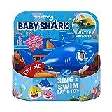 ZURU ROBO ALIVE JUNIOR- Daddy Shark, Juguete de baño para Nadar y Cantar a batería, por ZURU, Color Azul (25282B)