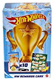 Hot Wheels Pack 10 Coches de Juguete Sorpresa con recompensas y Pegatinas, Regalo para niños +3 años (Mattel GWN97)
