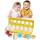 TINOTEEN Forma de Color Juguetes a Juego Huevo de Pascua Aprendizaje Educativo Juguete Infantil para niños pequeños por más de 18+ Meses