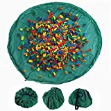 MaoXinTek Bolsa de Almacenamiento de Juguetes niños el Suelo y Organizador de Juguetes para casa y al Aire Libre portátil para Bloque de construcción