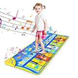 RenFox Alfombra Piano de Suelo Alfombra Musical de Teclado Alfombrilla Musical Tapete Baile Estera Piano Mat Touch Juego Regalo Juguete para Niños Bebe 130 x 48 cm