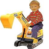 Allkindathings - Excavadora y Gorro Duro para niños 2 en 1