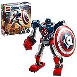 LEGO 76168 Marvel Vengadores Classic 76168 Armadura Robótica del Capitán América, Figura de Acción de Juguete para Niños a Partir de 7 Años