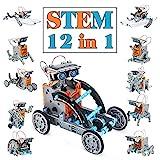 Juguetes Stem para niños de 8 años Kit de Robot Solar 12 en 1 Aprendizaje Educativo Ciencia Construcción de Juguetes con alicates para niños de 8-12 años