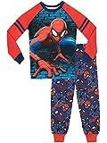 Spiderman Pijamas de Manga Larga para Niños Ajuste Ceñido El Hombre Araña Azul 9-10 Años