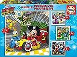 Educa Superpilotos Mickey And The Roadster Racers Puzzles Progresivos, 12+16+20+25 Piezas, multicolor (17629)