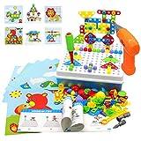 Akokie Juguetes Montessori Puzzles Rompecabezas Bloques Construccion Niños con Taladros Juegos Educativos Regalos Juguetes para Niños 3 4 5 6 7 años 223 Pcs