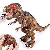 Baztoy Dinosaurios Juguetes, Dinosaurio Teledirigido con Movimiento, Luz y Rugido Realista, Juguete Radiocontrol para Niñas 2 3 4 5 6 7 8 9 10 Años, Animales Juguetes para Regalos Cumpleaños