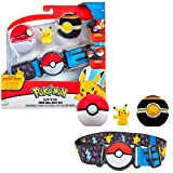 Bandai – Pokémon – 1 cinturón Clip 'N' Go – 1 Bola de Lujo, 1 Bola y 1 Figura de 5 cm Pikachu – Accesorio para disfrazarse en Dressor Pokémon – WT0080