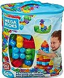 Mega Bloks - Juego de construcción de 60 piezas - bolsa ecológica clásica - juguetes bebe 1 año - (Mattel DCH55)