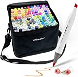 Juego de 120 rotuladores de colores para arte, punta doble, pincel y cincel para niños, artista, estudiantes, rotuladores para bocetos, colorear para adultos, caligrafía