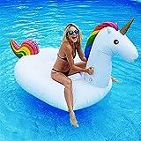 Dracarys Juguete Hinchable Flotante Gigante del Unicornio Piscina Cama Flotante Unicornio General y Adulto y Anillo de la natación del niño y Silla de la recreación del Agua (msdium)