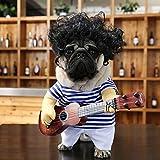 fenihooy Disfraces de Perro, Mascota Disfraz de Cosplay Funny Guitar Disfraces Mascotas Traje Divertido Ropa Bonita Ropa para Mascotas de Navidad Disfraz de Halloween (Menos de 11kg)