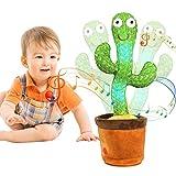 MIAODAM Peluche de cactus para bailar, cactus, cantar y bailar, electrónico, forma de cactus, juguete para niños y adultos (cantar, bailar, luces y repetición)