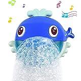aovowog Juguetes de baño Juguetes bebé Maquina de Burbujas 20 Música y Burbuja Automática, para Ducha de Niños Baño de Burbujas Juguetes