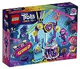 LEGO Trolls - Fiesta de Baile en Techno Reef, Juguete de Construcción Inspirado en la Película de Animación, Incluye Muñecos de Varios Personajes, a Partir de 5 Años (41250)