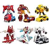 6 Paquetes Robot Transformer Action Figure, Heroes Rescue Bots Juguete, Robots Y Vehículos Juego De Juegos, Robot De Coche Conjunto De Modelos Completo, Deformación De Automóviles Robot Juguete, Defor