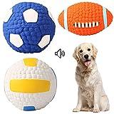 Pelotas de juguete para perro SUKEKE (3 unidades), juguete interactivo para masticar para cachorros, perros y gatos pequeños y medianos