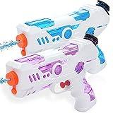Zaloife 2 Pack Pistola de Agua,Juguetes para Niños Pistola de Chorro de Agua, Water Gun para niñas de niños para Batalla de Agua, Jardín Playa, Verano Juguetes de Agua