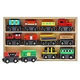 Trenes de Madera Imantados (13 Piezas ) Set - 12 Trenes con 1 Estuche de Madera - Accesorio de Set de Trenes, Colección de Trenes de Juguete de Madera para Niños y Niñas
