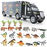 kramow Dinosaurio del Juguete Camión de Transporte con Animales Dinosaurios Juguetes,Educativo Juguetes Niños 3 4 5 años