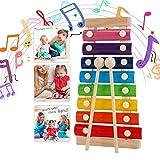 Xilófono Juguetes,Musicales Xilófono de Madera,Instrumento Musical de Percusión Mejor día Cumpleaños Regalo,para Niños de entre 3 y más