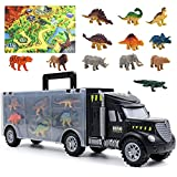 Dinosaurios Juguetes Camion Coches de Juguetes con 12 Piezas Dinosaurios Animales Juguetes 1 Tapete de Juego Regalos para Niños Niñas 3 4 5 6 Años