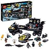 Super Heroes DC Comics BatmanBatbase MóvilBatcuevaCamión de Juguete conAvión Jet, Quad, Motocicleta y Moto Acuática, multicolor (Lego ES 76160)