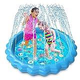 Luchild Tapete de Juegos de Agua Almohadilla de Aspersor de Juego Splash Pad Juego de Salpicaduras para Niños Jugar al Agua al Aire Libre en Jardín, Almohadilla de Rociadores Juguete de Verano 170cm