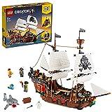 LEGO 31109 Creator 3 en 1 BarcoPirata, Taberna o Isla Calavera, Juguete de Construcción para Niños y Niñas a partir de 9 años