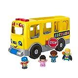 Fisher-Price- Autobús Escolar Amarillo Grande de Little People (Mattel GTL68), (Versión en español)