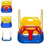 EXTSUD 3 En 1 Columpios Infantiles para Bebés Niños con Silla Convertible en Asiento de Seguridad, Carga Máx. 150 KG, para Casa Jardín Interiores o Exteriores (Azul)