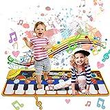 Regalos para Niños Alfombra para Piano, Alfombra de Teclado Táctil Musical Touch Juego 110 * 36cm Portátil Electrónico Educativo Musical Tapete de Piano,Juguetes para Bebé, Niño, Niña