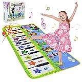 NEWSTYLE Alfombra Musical,Alfombra Infantil con 8 Instrumentos 10 Teclas de Piano Infantil Educativo Juguete para Niños de 1 2 3 4 5 Años, Regalos Originales Bebes,135 x 59 cm