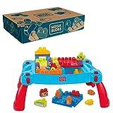 MEGA Bloks Mesa Preescolar 3 en 1, juguete con bloques de construcción para bebé +1 año (Mattel CNM42)
