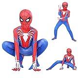 SnowDream Superhéroe Spiderman Disfraces niños Lycra Spandex Halloween Cosplay Zentai araña Verso Millas Morales Body Halloween Cosplay Disfraces Disfraces para niños,140