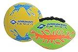 Schildkröt Funsports Pack de 2 Mini-Pelotas , 1 Pelota de Volley y 1 Pelota de Fútbol Americano, Ø 9 cm, Agarre  Fácil y Resistente al Agua Salada, Ideal para la Playa, Amarillo y Verde, 970282