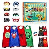 Dreamingbox Juguetes Niños 2-14 Años, Capas Superheroes Niños Juguetes Niña 3 4 5 6 7 8 9 10 11 12 13 14 Años Juegos Educativos Regalos Cumpleaños Capa Roja Disfraz 3-10 Años Juguetes Niño