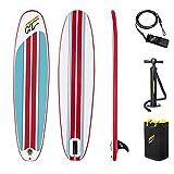 Hydro-Force 8' x 22' x 3'/2.43m x 57cm x 7cm Compact Surf 8 Tablas hinchables para Remo de Soporte, Unisex niños, Multicolor