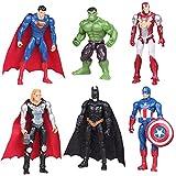 Avengers Cake Topper Caland 6 Pcs Figuras de héroe Cake Topper Juguete de Figura Mini Juego de Figuras Niños Mini Fiesta de cumpleaños Pastel Decoración Suministros