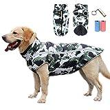 TVMALL Abrigo para Perros Chaqueta abrigadora de Invierno Reflectante Capa de Mascotas Chaleco para Perros Resistente al Viento Traje de esquí para Perros Apto para Perros medianos y Grandes (3XL)