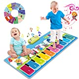 Joyjoz Alfombra de Piano con 90 Sonidos, Alfombra de Baile Musical para Bebe, Instrumentos Musicales Infantil, Juguetes Musicales para Bebés, Niños y Niñas de 1 a 5 Años (110*36cm)