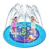 VATOS Splash Pad Aspersor de Juegos de Agua - Almohadilla de Juego de Agua Antideslizante de 67' con Diseño UFO, Aspersor de Juego Salpica de Jueg Agua para Niños Juegos Aire Libre