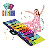 Joyjoz Alfombra Musical de Piano con 100+ Sonidos, Alfombra de Baile 4 Modos, Alfombra de Teclado para Niños Instrumentos Juguetes Musicales para Niños Niñas (110*36CM)