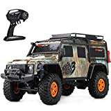 XLST 1/10 Coche Teledirigido 4X4 Crawler Coches RC Impermeable Camión Monstruo 2.4Ghz Controlado por Radio Calesa Coche De Juguete para Adultos Y Niños,Verde