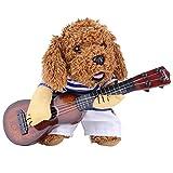 Ropa para Mascotas Creativo Especial Lindo Divertido Perro Guitarrista de Pie de Disfraz para Halloween Fiesta Navidad Cosplay (M)