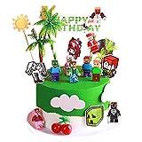 Minecraftes Cake Topper Mini Juego de Figuras Niños Figuras Roblox Mini Juguetes Baby Shower Fiesta de cumpleaños Pastel Decoración Suministros