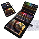 Juego de 96 Profesionales Lapices Colores, Lapices de Dibujo, Bosquejo Carbón Grafito Sticks, ideal para Niños Adultos Artistas colorear, Bocetos, Sombreado, útiles escolares