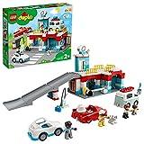 LEGO 10948 Duplo Town Aparcamiento y Autolavado, Parking para Coches de Juguete para Niños 2 Años con Mini Figuras