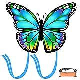 weeyin Cometas de Mariposa para niños y Adultos,Cometa acrobática con Cordón y Cola de la Cometa para Niños y Adultos Principiantes,Juegos al Aire Libre,Viaje a La Playa, Regalo de Cometas
